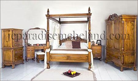 Kamar Set Mewah Jati Kanopi