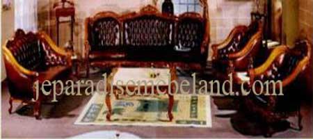 Sofa Tamu Monaco Selendang,Jual Sofa Tamu Jati